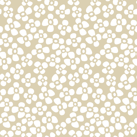 petite flowers cream white fabric by scrummy on Spoonflower - custom fabric