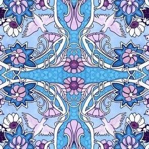 Nouveau Oiseau (blue)