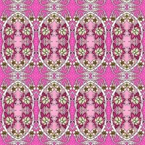 Nouveau Oiseau Wreath  co ordinate  (pink)