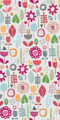 paper cut flowers silver small