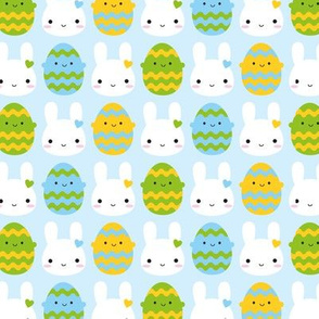 Kawaii Easter Bunny & Eggs