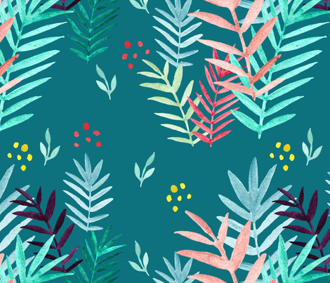 Tropical Pattern #4 fabric by nantia on Spoonflower - custom fabric