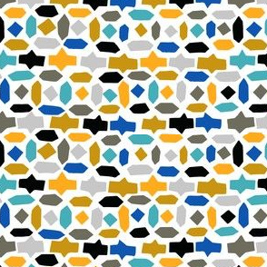 mosaic moroccan hexagon abstract geometric