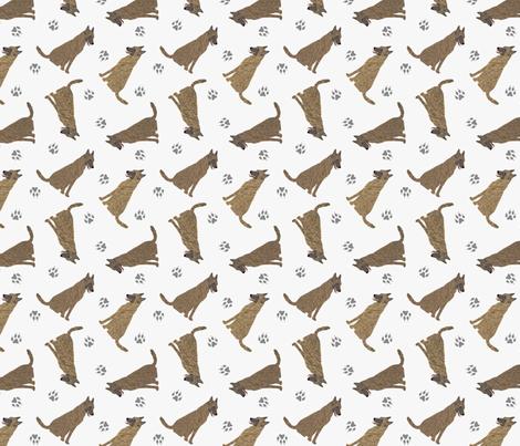 Tiny Dutch Shepherds - gray fabric by rusticcorgi on Spoonflower - custom fabric