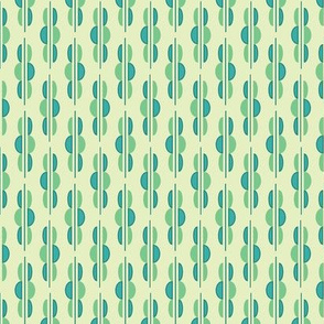Half Circle Swizzle Sticks in Greens