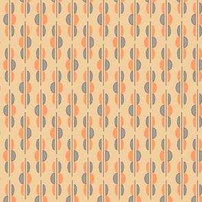 Half Circle Swizzle Sticks in Orange and Neutrals