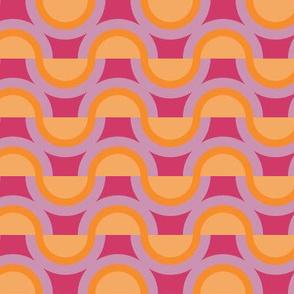 Semi-Circle Rainbows in Orange and Pinks