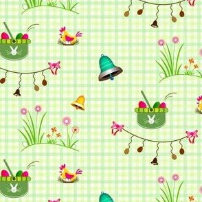 Easter, eggs hunt - Green