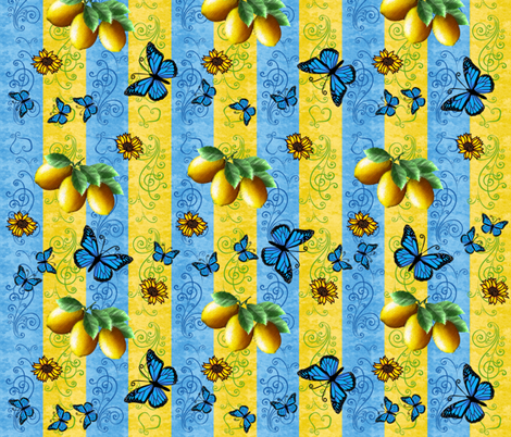 Limoncello Monarch fabric by laurijon on Spoonflower - custom fabric
