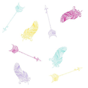 arrows-n-feathers-pastels