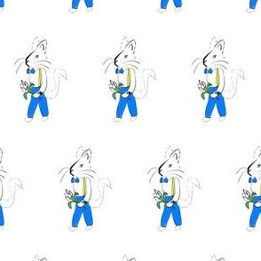 Spring Fox with Tulips