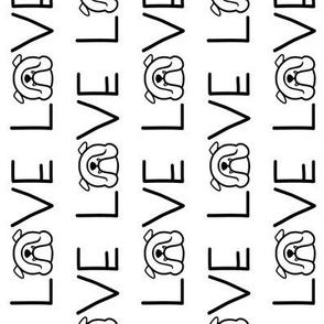 English Bulldog LOVE - vertical text