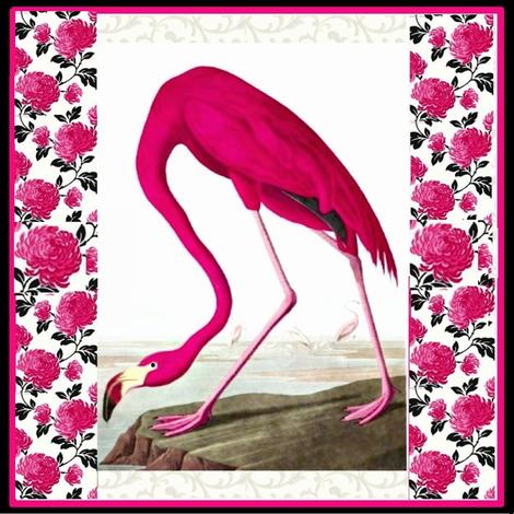Flamingo fabric by feralartist on Spoonflower - custom fabric