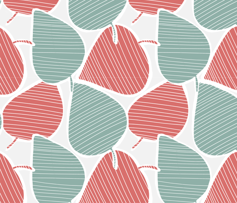 big leafs fabric by meissa on Spoonflower - custom fabric