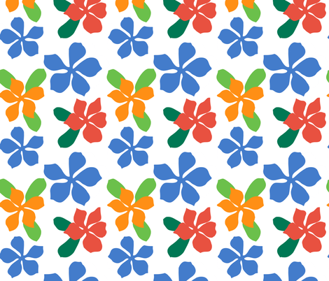Bright Flowers  fabric by anne_renata on Spoonflower - custom fabric
