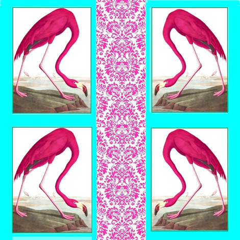 Flamingos_Pink fabric by feralartist on Spoonflower - custom fabric