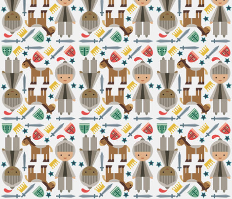 Knights fabric by mintparcel on Spoonflower - custom fabric