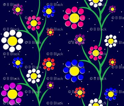 Paper-Cut Flowers - Midnight Dance