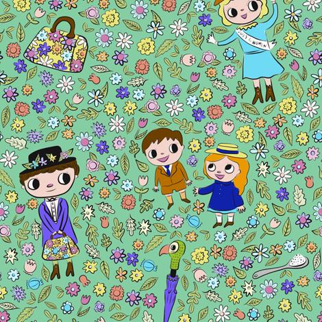 spoonful of sugar fabric by heidikenney on Spoonflower - custom fabric