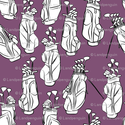 Golf Bags on Purple