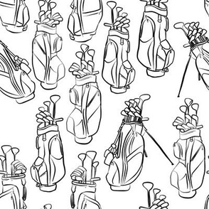 Golf Bags in Black and White