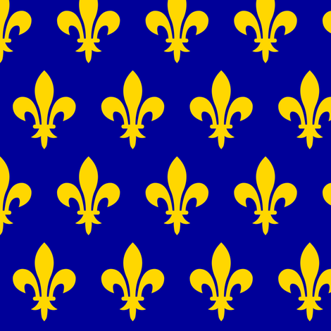 Kingdom of France fabric by thinlinetextiles on Spoonflower - custom fabric