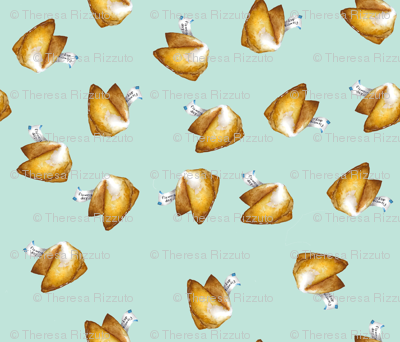 Mint Blue Fortune Cookies
