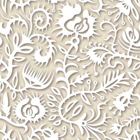 paper florals fabric by marta_strausa on Spoonflower - custom fabric