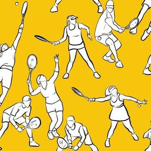 Tennis on Yellow