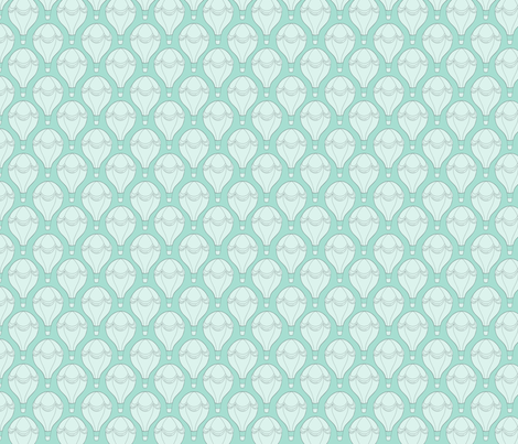 Hot Air Balloon - mint fabric by hazel_fisher_creations on Spoonflower - custom fabric