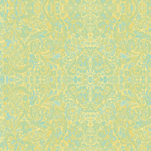 PaisleyFantasy yellow blue tan