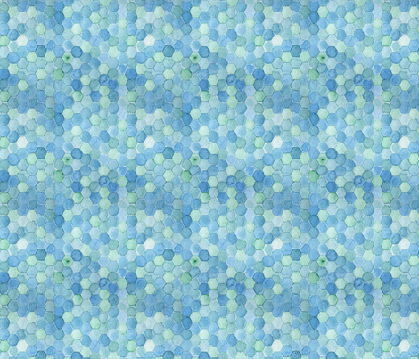Watercolor Hexagons fabric by anniecdesigns on Spoonflower - custom fabric