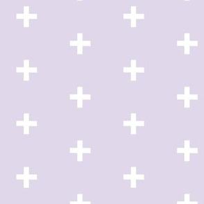 Swiss Cross - white on Lavender plus - Moonshade