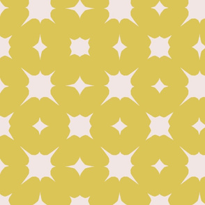 pebbles~mustard on sunbleached pink