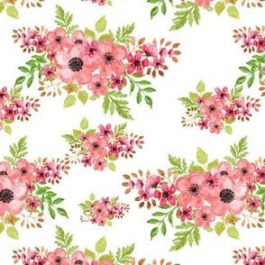 floral water color design  white background.