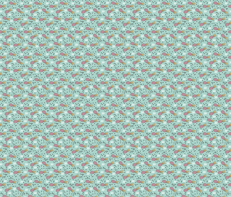 Tropical aqua blue and pink pineapple summer fruit geometric arrow pattern print XS Flipped rotated fabric by littlesmilemakers on Spoonflower - custom fabric