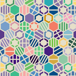 Hexagons_Spring_repeating