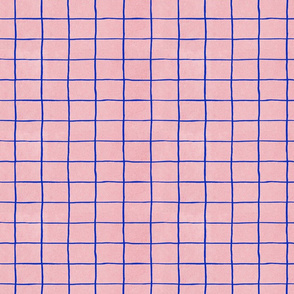 Grid, blue and pink
