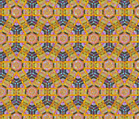 Double X Hexagons fabric by elramsay on Spoonflower - custom fabric