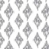 Diamond ikat grey