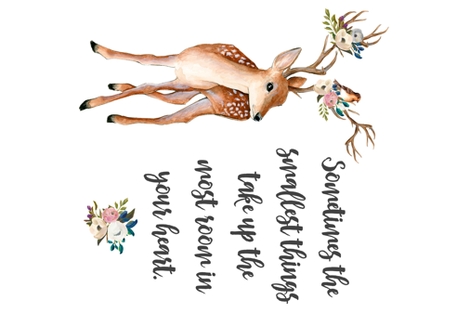 """MINKY FAT QUARTER / 27""""x18"""" / Sometimes the Smallest Quote fabric by shopcabin on Spoonflower - custom fabric"""