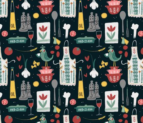Vintage Italian Kitchen fabric by kellyannedalton on Spoonflower - custom fabric