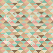 Peach, Mint, and Gold Triangles