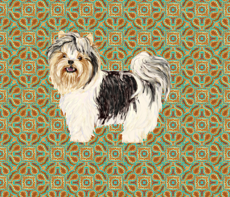 Biewer Terrier for Pillow fabric by eclectic_house on Spoonflower - custom fabric