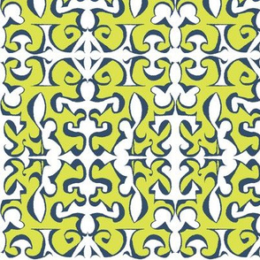 ARABESQUE Chartreuse & Ink