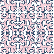 ARABESQUE Pink & Indigo