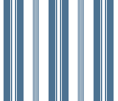 stripes - french ticking - blue fabric by christine_roehm_design on Spoonflower - custom fabric