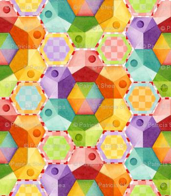 Circus Rainbow Hexagons