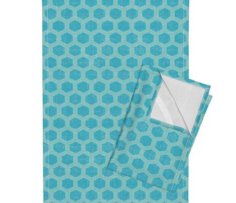 honeycomb - teal