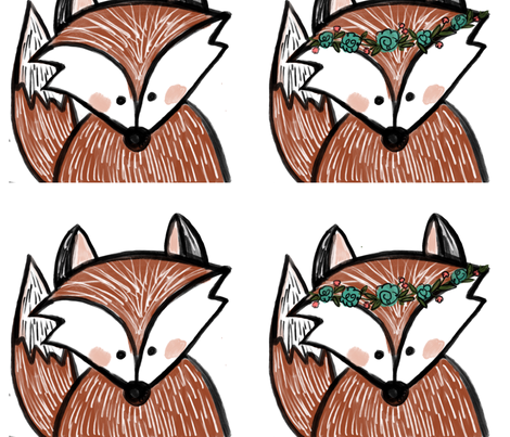 Foxes fabric by averielaneboutique on Spoonflower - custom fabric